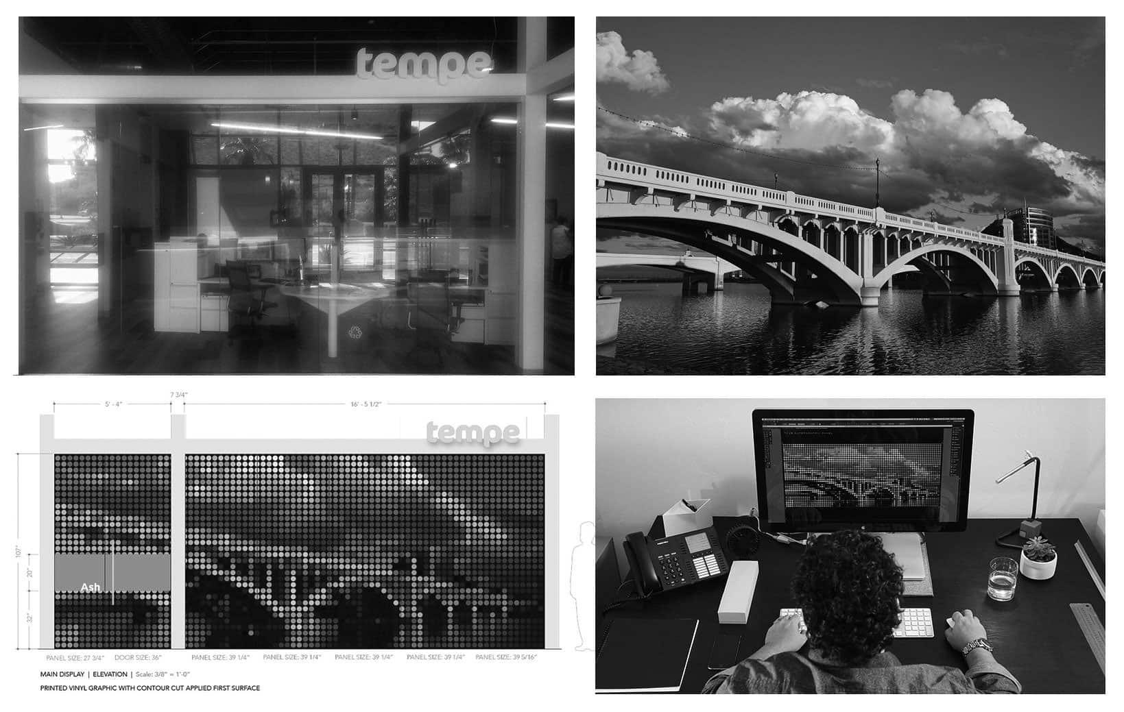 Tempe Tourism Office Environmental Graphic Design Installation