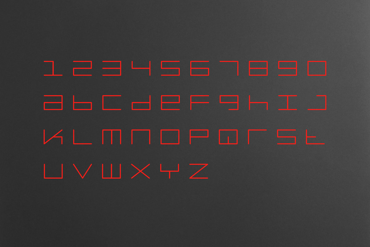 Architecture firm branding program detail for Stance Architecture — typeface design