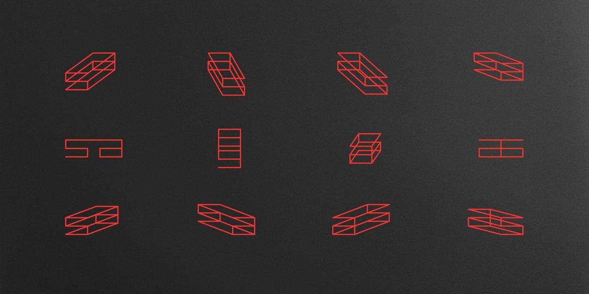 Architecture firm branding: detail, logo family