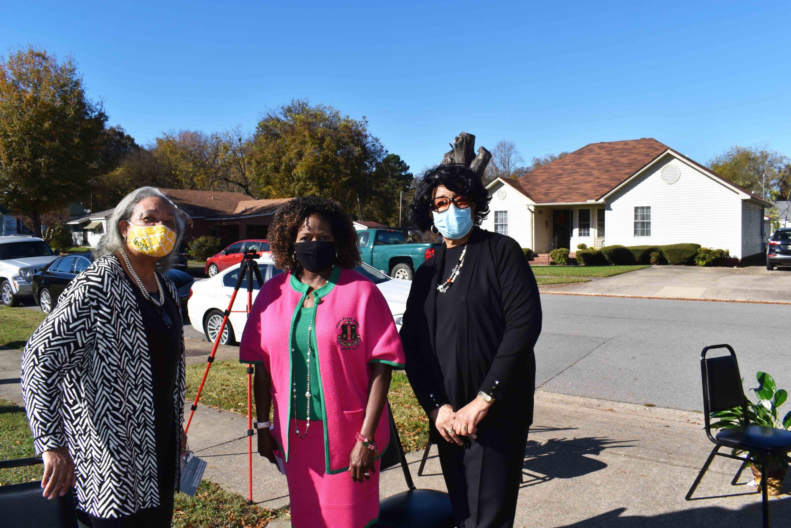 Rev. Maxine Allen, Laura Martin, Dianne Charles
