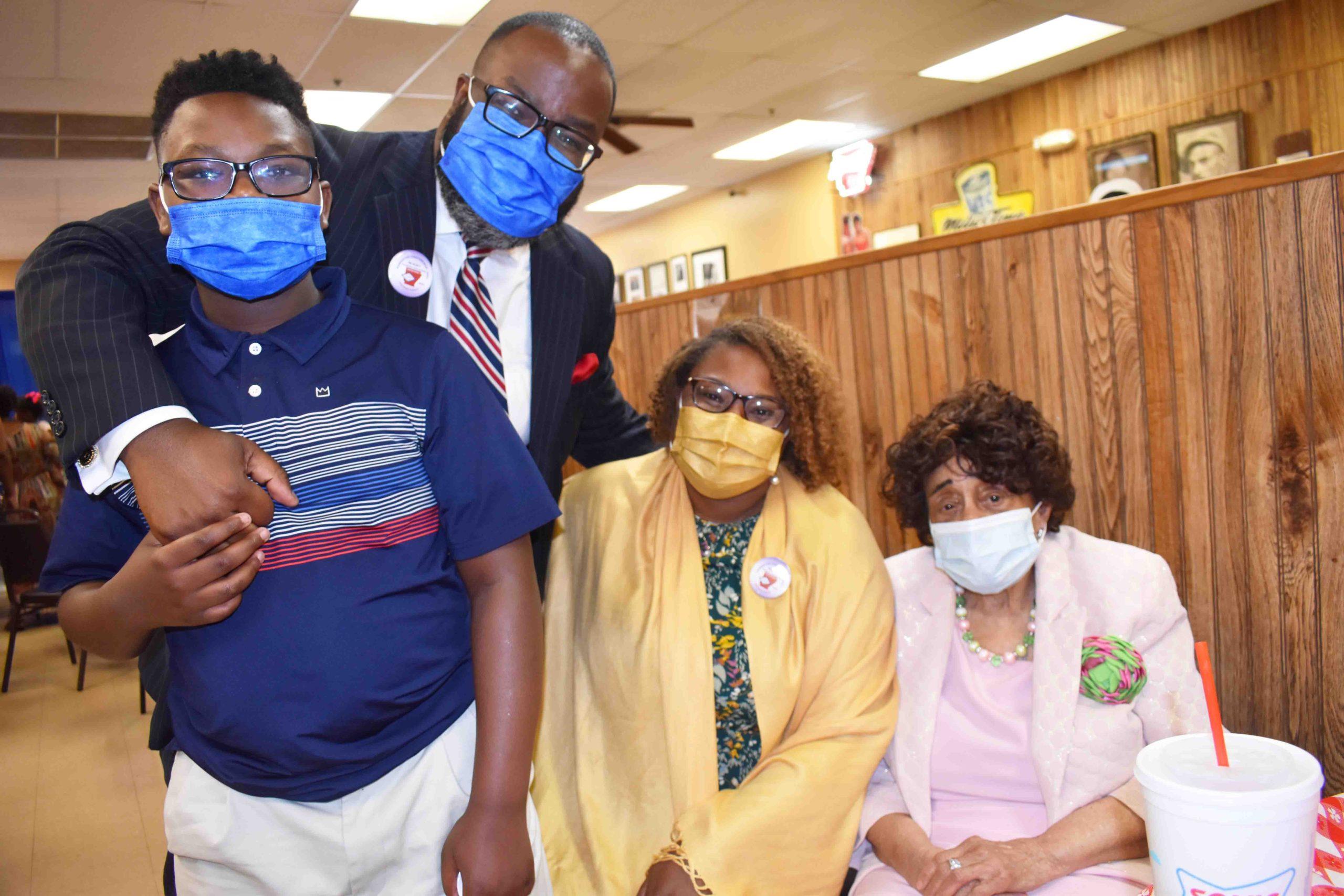 Jaxon, Dr. Jeremy & Katrina Owah, Mary Louise Williams