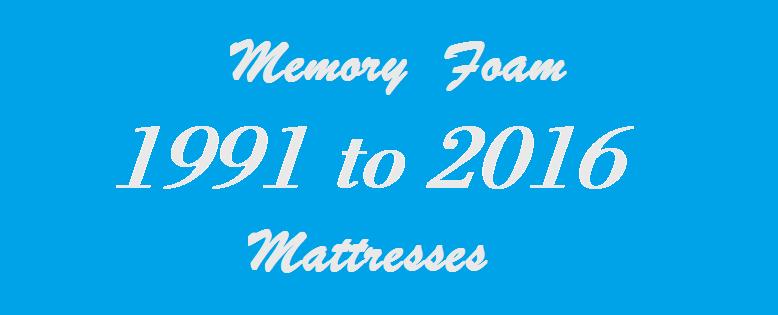 25 years of Memory Foam Mattresses