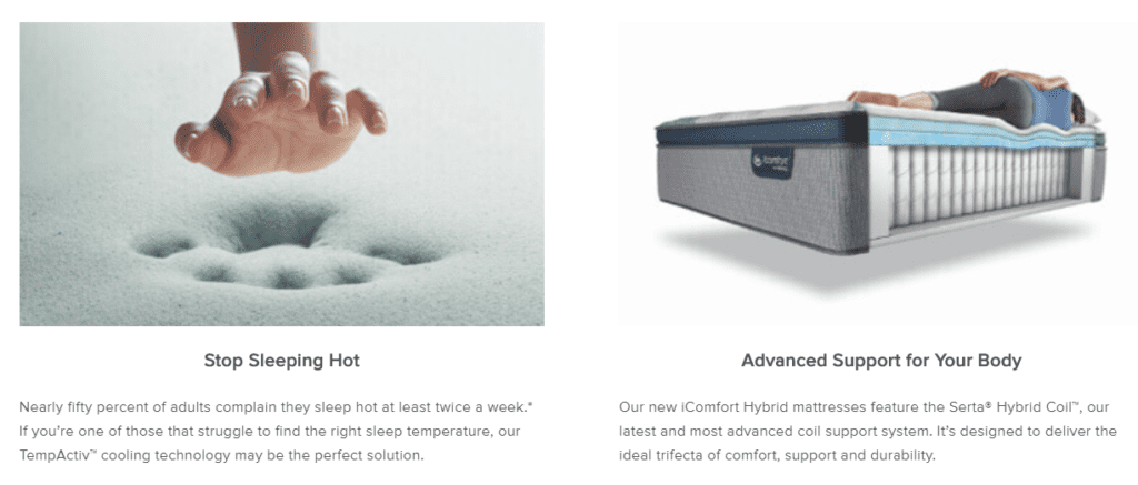 Serta iComfort Mattresses Gel Memory Foam or Hybrid Mattress Review