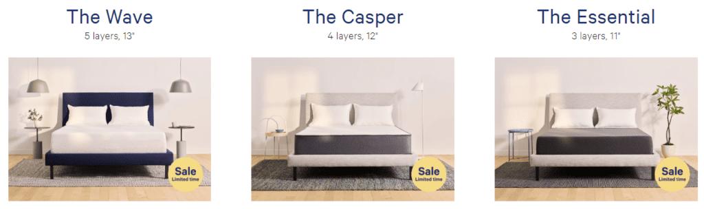Three Casper Sleep memory foam mattress review