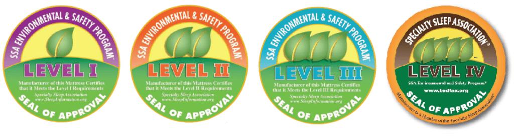Seals of 4 SSA Environmental & Safety Program levels