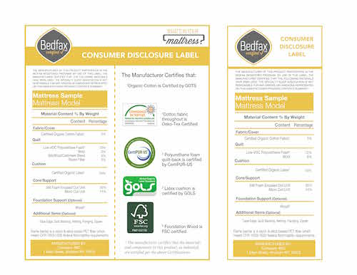 Bedfax labels