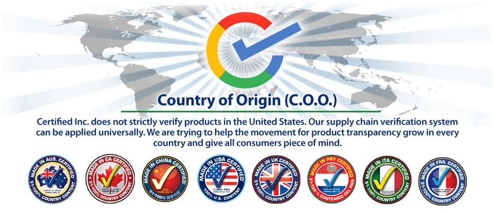 Certified Seals for Countries of Origin