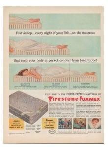 1952 Firestone Foamex ad