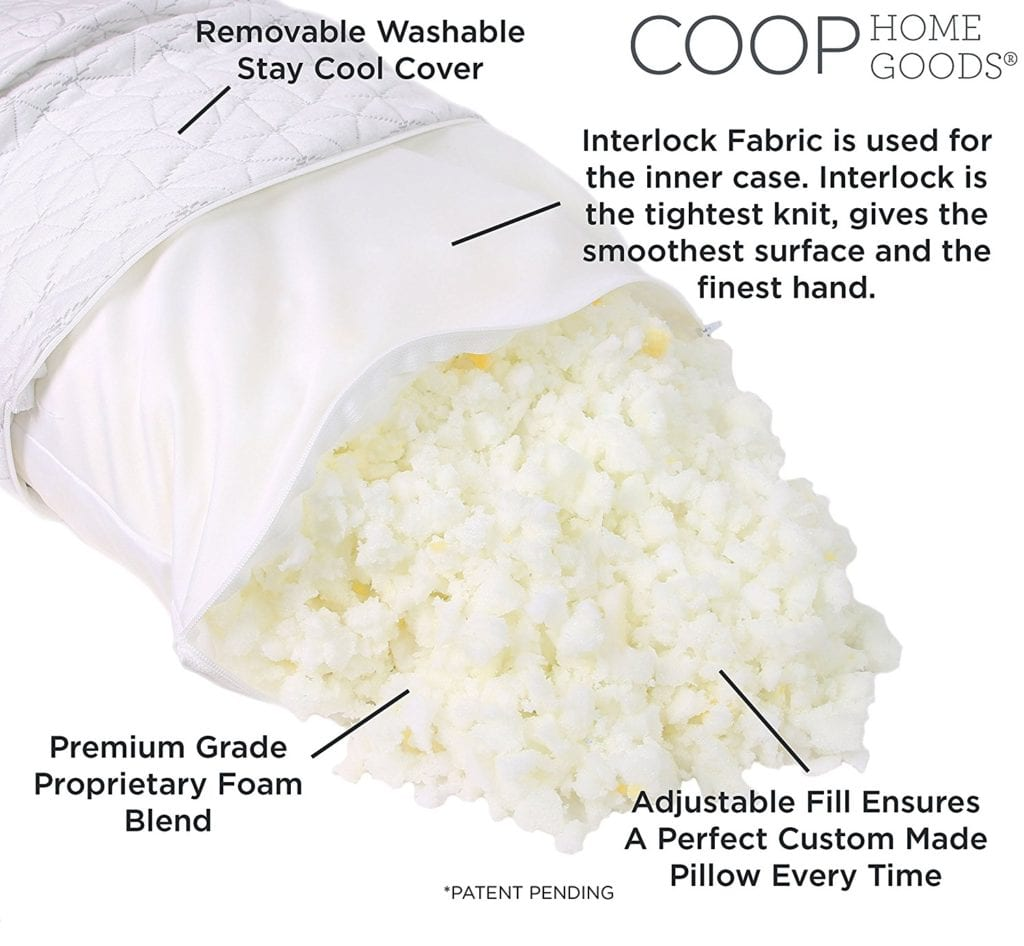Contents of Coop Original pillow