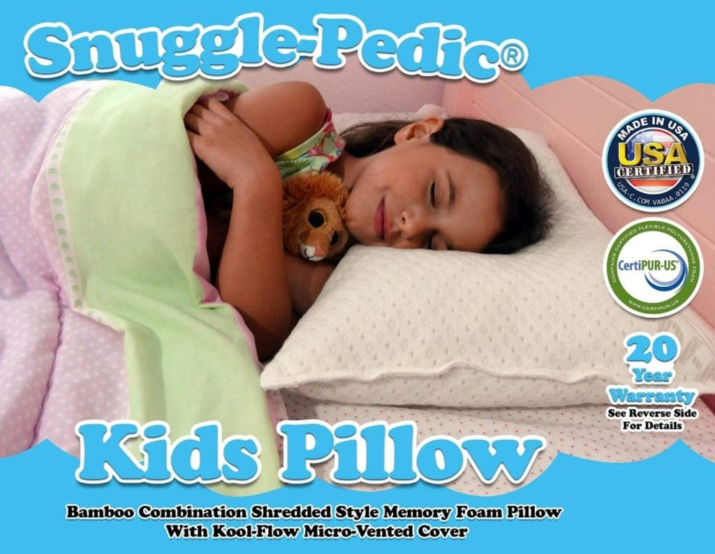 Snuggle-Pedic Toddler Kids Memory Foam Pillow Kool-Flow