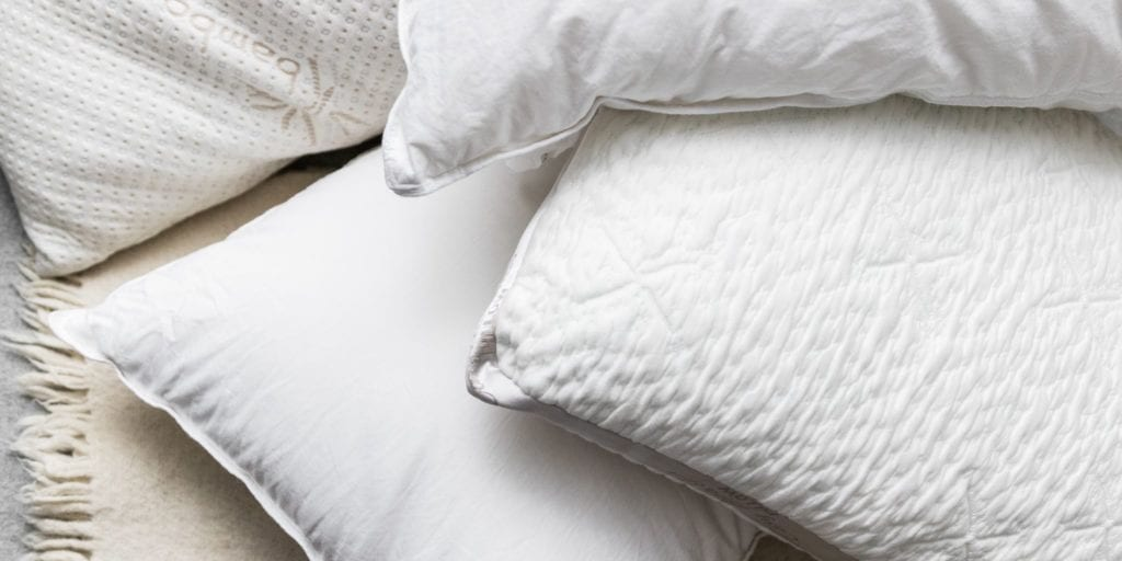Pillow comparison down feather filling vs memory foam