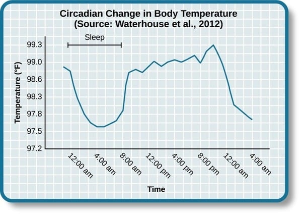 Circadian Change in Body Temperature