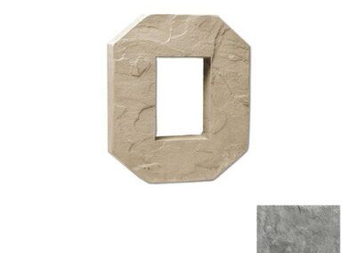 Utility Electrical Box Octagon Single Taupe