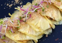 Tacos de piña y camarón