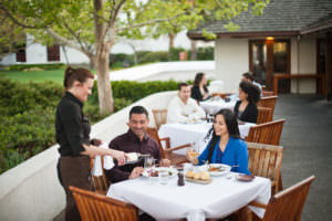 Dining on Wente patio