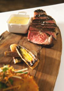 Estate-grown beef highlights menu (Photo by Nader Khouri)