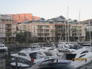 Table Mountain from Cape Town waterfront