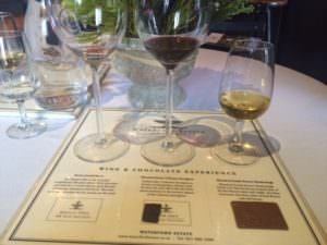 Wine and chocolate pairing at Waterford