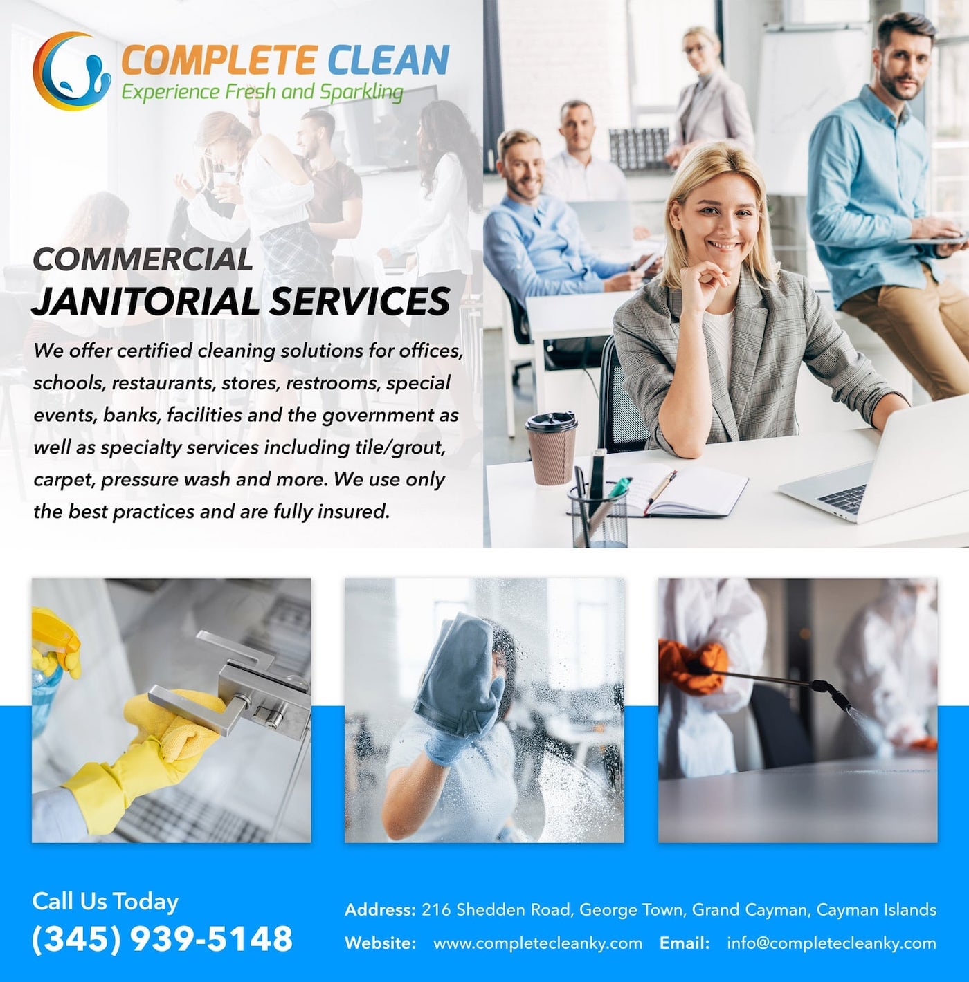 Complete Clean - Cayman Cleaning Services for Business, Offices, Schools