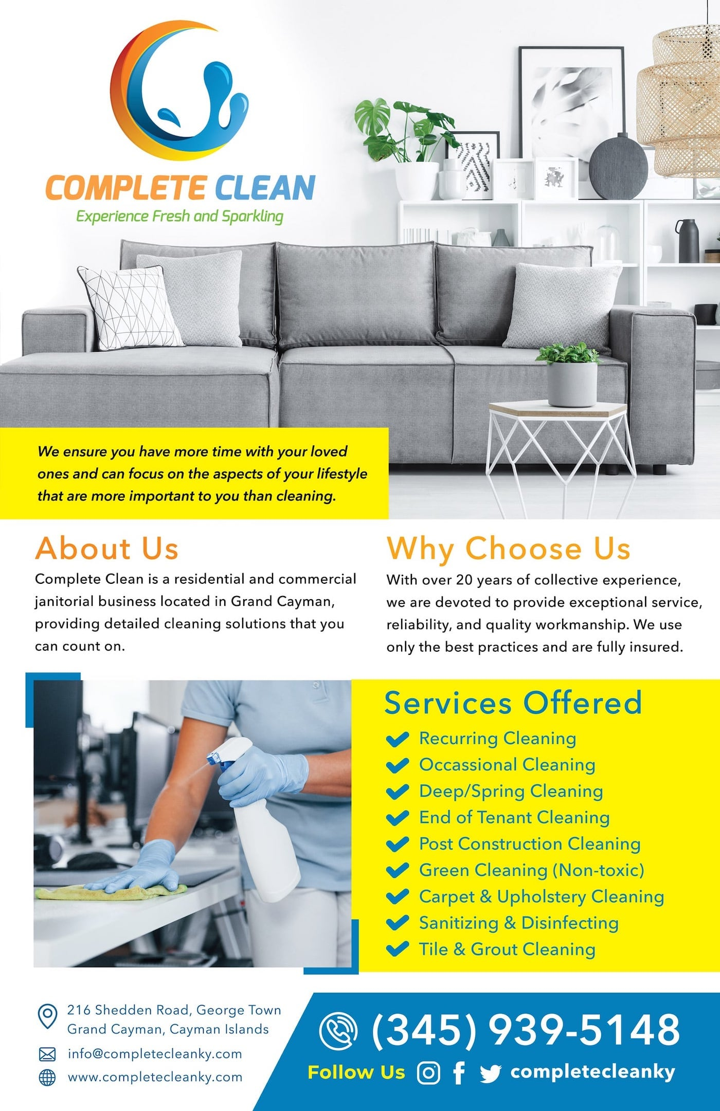 Complete Clean - Cayman Cleaning Services for Homes, Rentals, Apartments, Condos