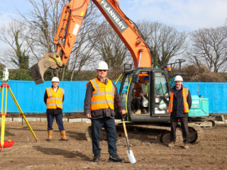Hard hats, high-vis and excavators are now populating the plot in Albion Street