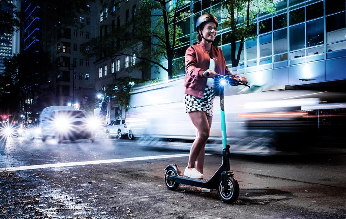 girl on Gotcha scooter