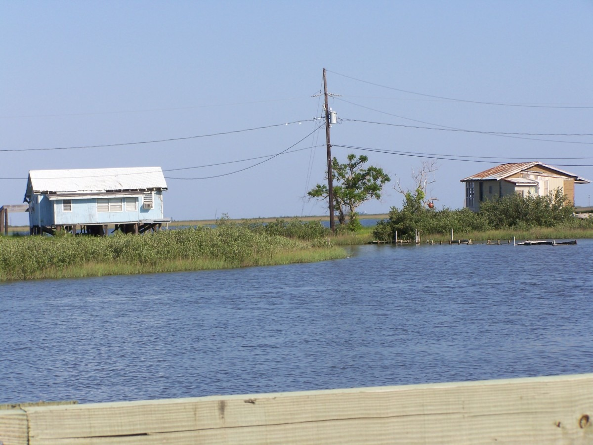 These are old family camps in the southern marshes