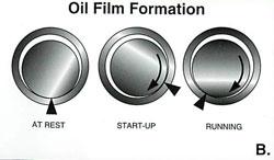 Engine Bearing Oil Film Illustration