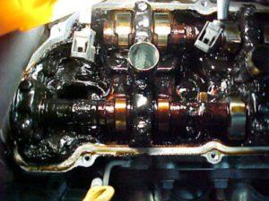 Sludge Buildup In Cylinder Head
