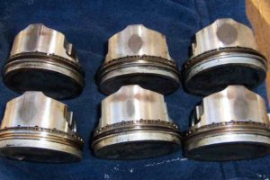 Scuffed Pistons From Excessive Fuel Wash