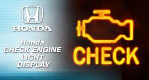 OBD1 Honda Check Engine Light