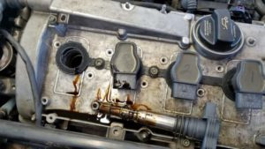 Oil Leaking Into Spark Plug Tube