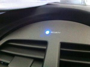 Security System Or Immobilizer Light On