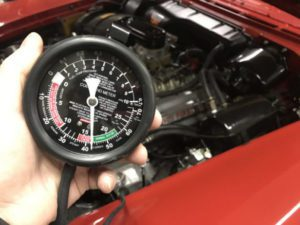 Checking The Intake Vacuum With A Vacuum Gauge