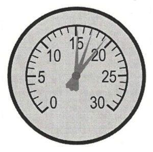 Fluctuating Needle On Vacuum Gauge Image