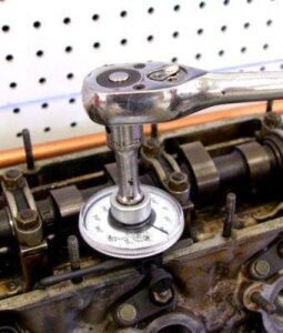 Torquing Bolts With Torque Angle Gauge