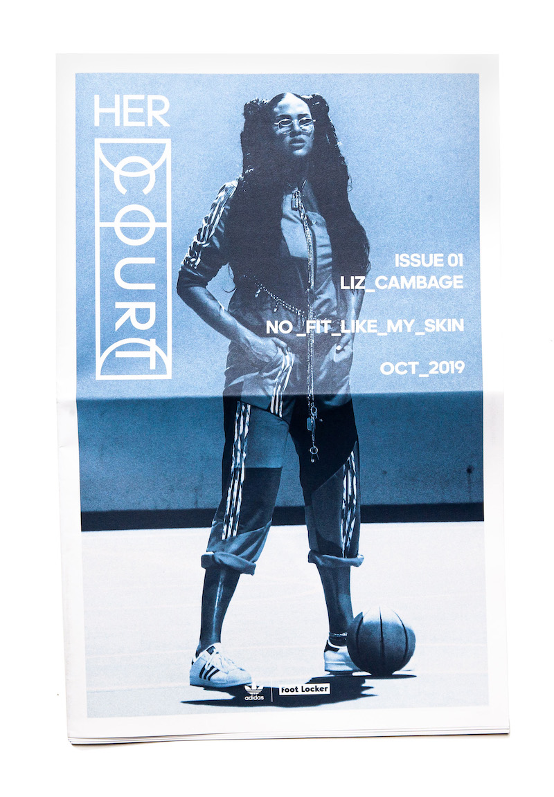 Her Court zine Issue 01 with Liz Cambage, printed in blue