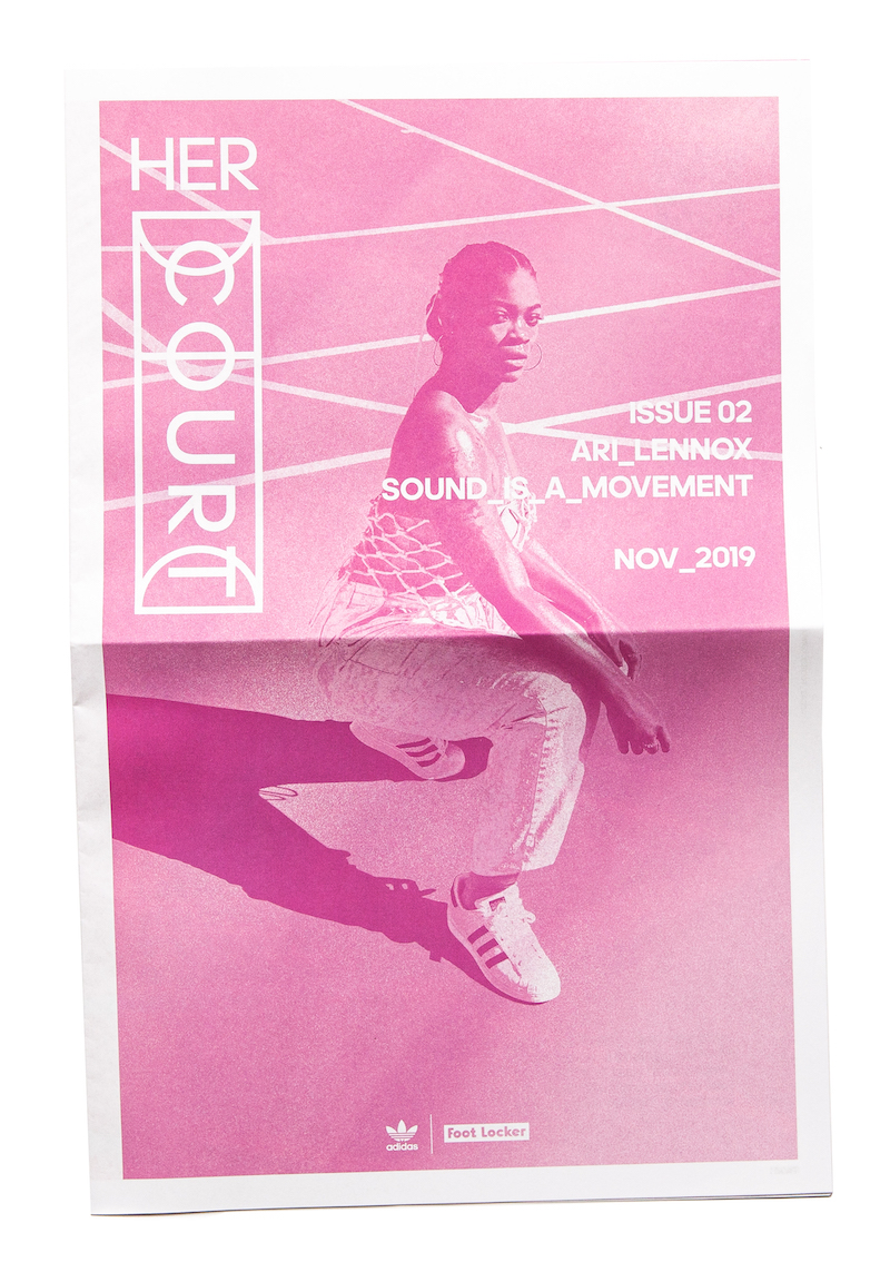 Her Court zine Issue 02 with Ari Lennox, printed in pink