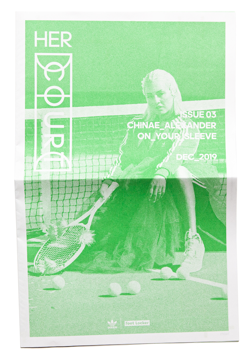 Her Court zine Issue 03 with Chinae Alexander, printed in green