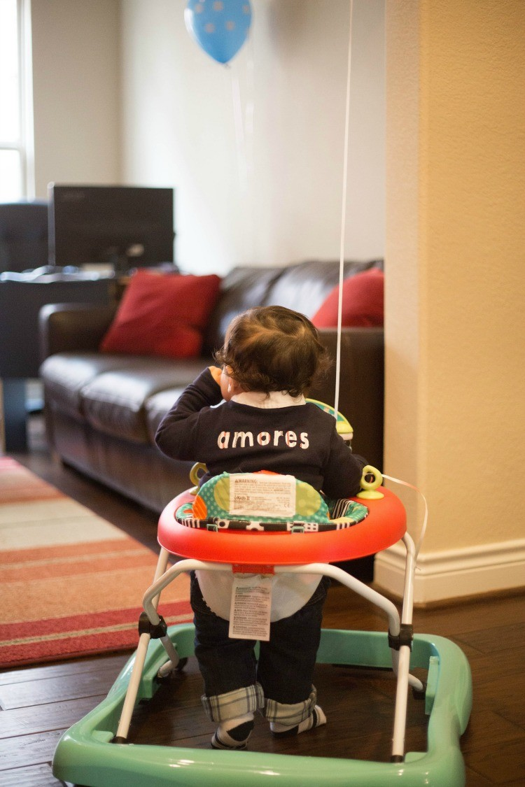 Baby Manny's First birthday in his Amores One shirt