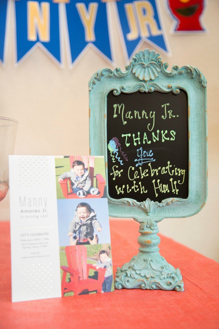Manny Jr.s First Birthday and Minted Invitation