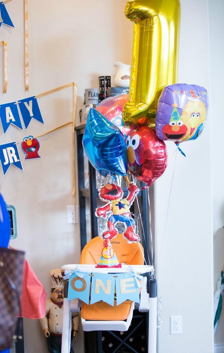 Sesame Street balloons for the birthday boy