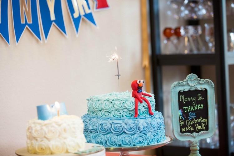 The birthday cake and smash cake