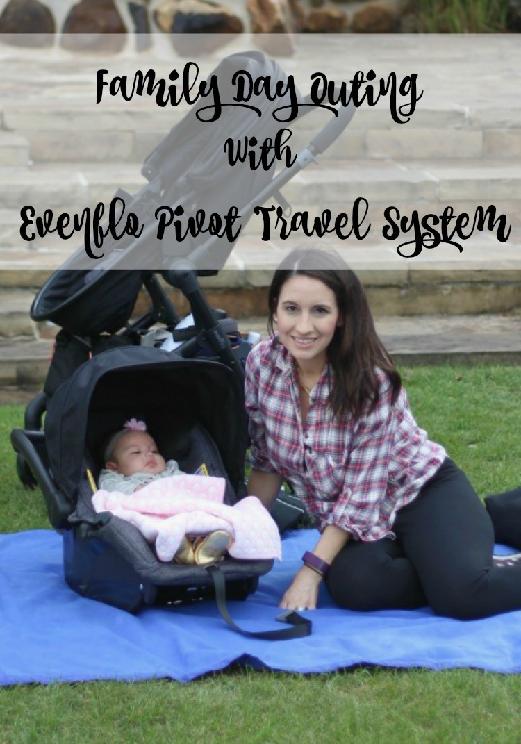 A day in the park with Evenflo Pivot Travel System + My Review #Ad