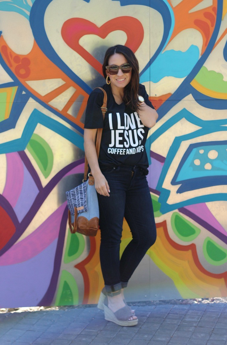 Elly and Grace T-Shirt, Pretty In Her Pearls, Style Blogger, Petite Blogger, Mom Blogger,
