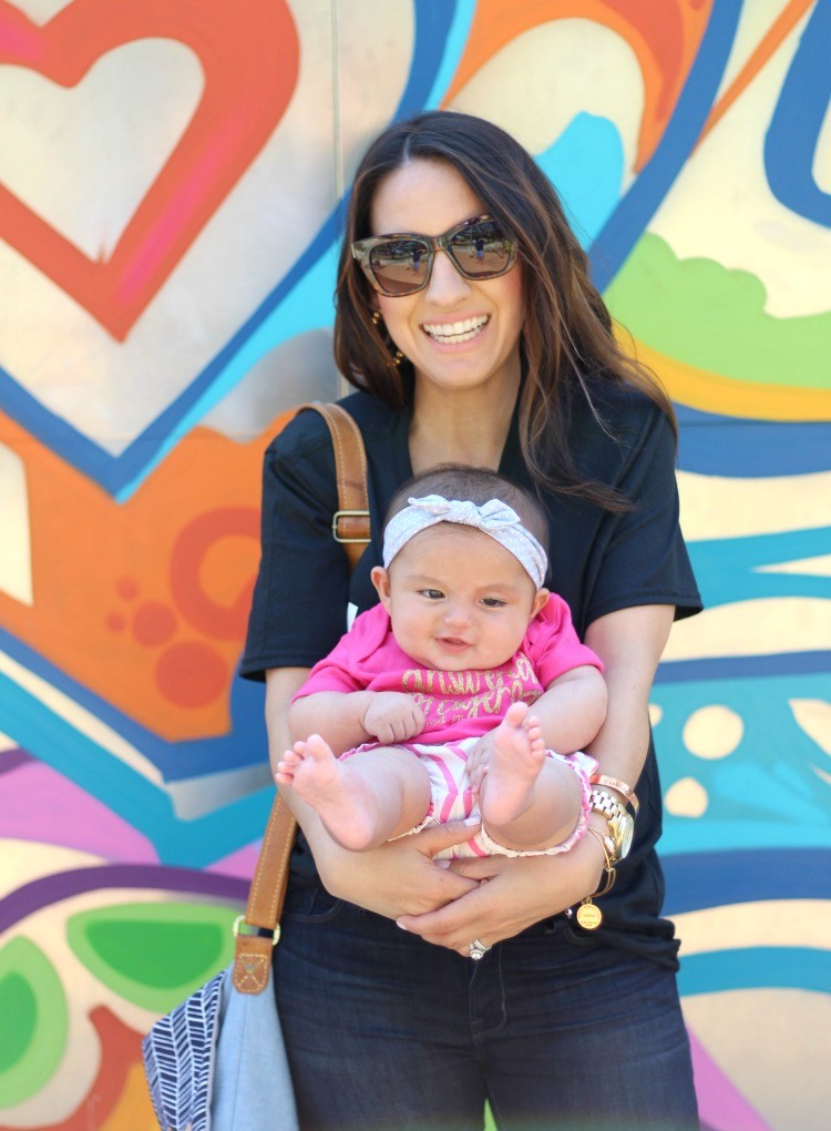 Mommy and Me Style, Elly and Grace T-Shirt, Pretty In Her Pearls, Style Blogger, Petite Blogger, Mom Blogger,