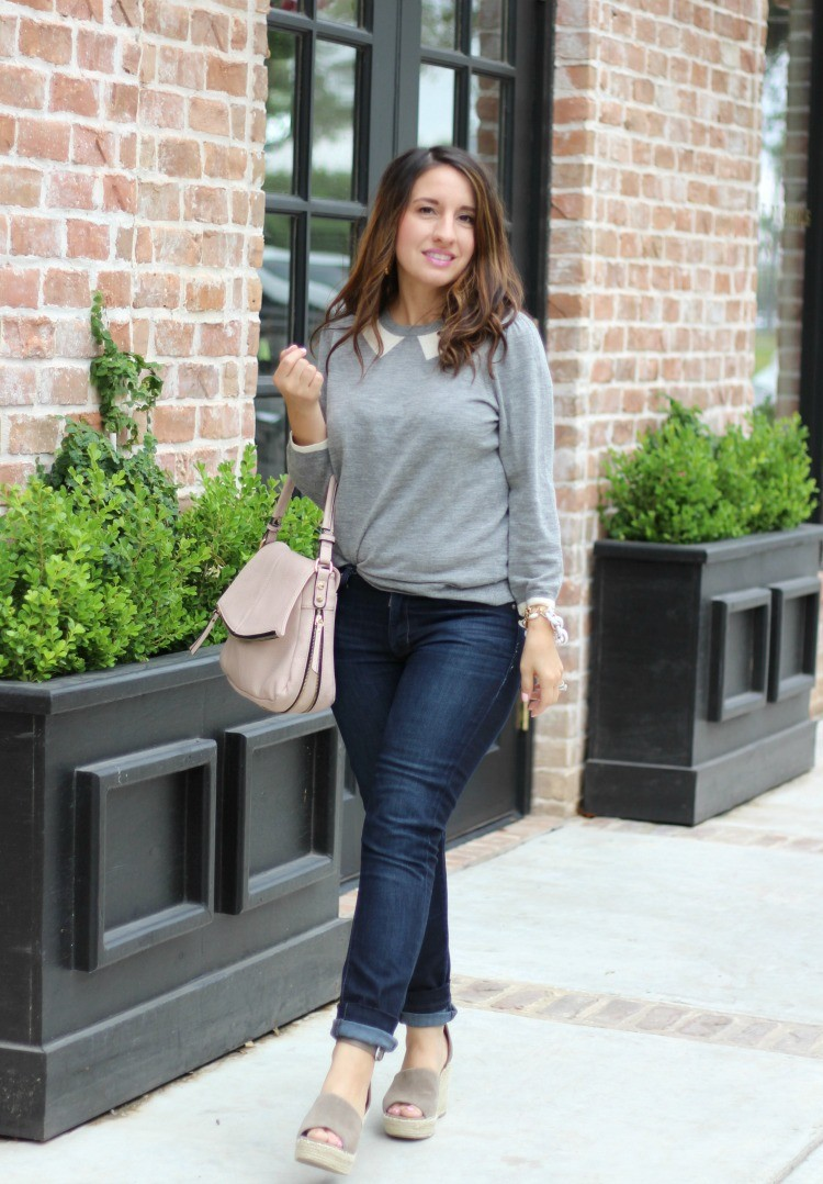 The Perfect Collared Tippi Sweater, Pretty In Her Pearls, Petite Blogger
