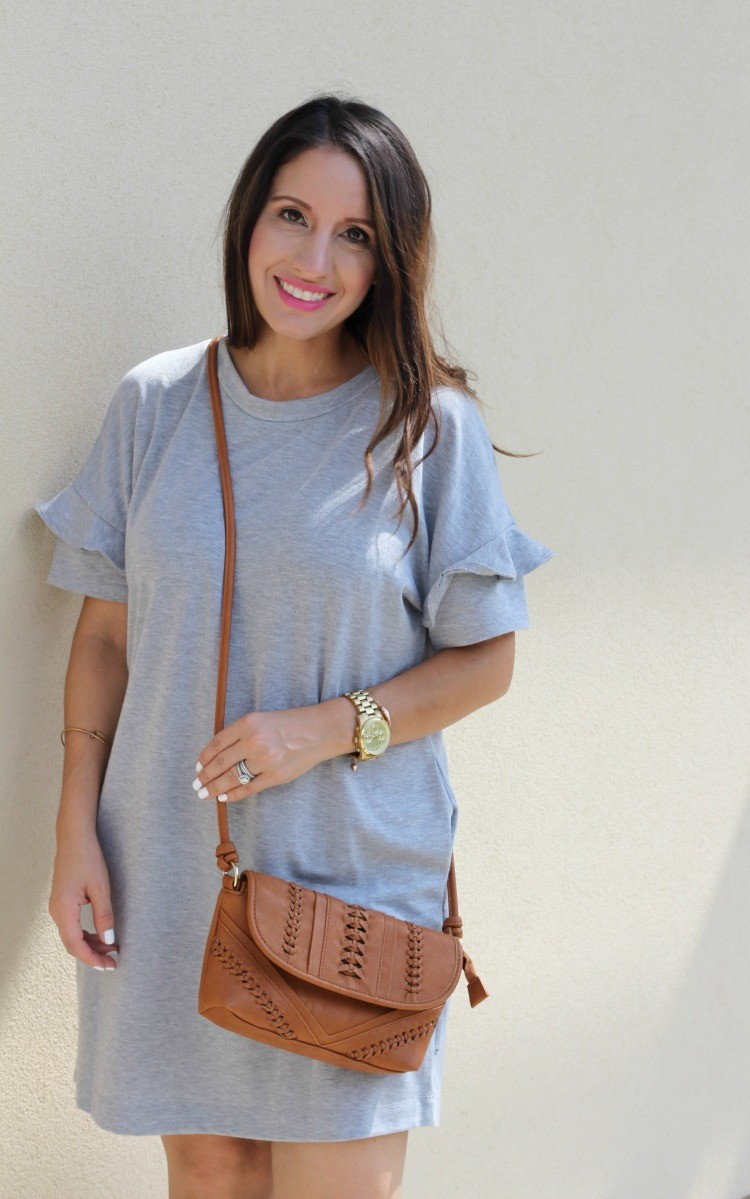 The perfect grey dress, Pretty In Her Pearls, Petite Blogger