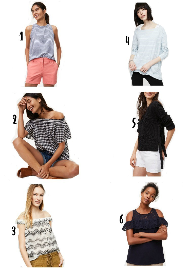 The perfect tops from Loft, Pretty In Her Pearls, Houston Blogger