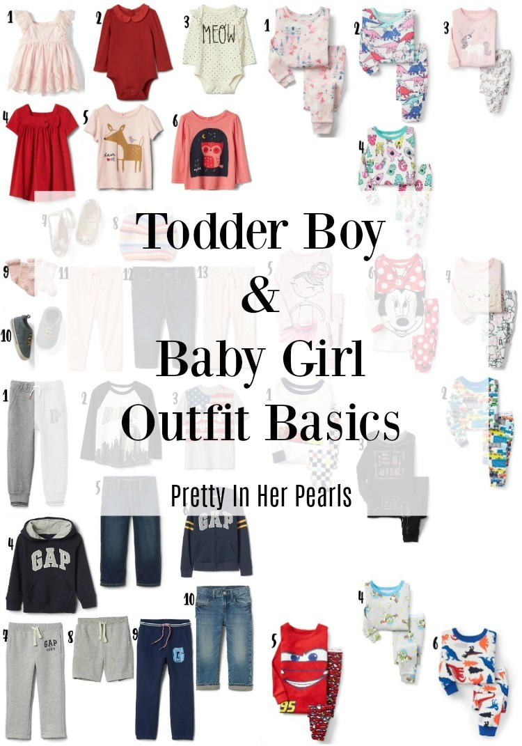 Toddler Boy and Baby Girl Outfit Basics, Baby Clothes, Toddler Boy Clothes, Gap Kids, Houston Blogger, Pretty In Her Pearls